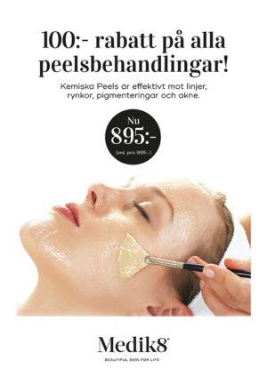 Kemisk peeling ersätter nu vår Micropeel behandling. Finns i olika utföranden och efter hudtyp.